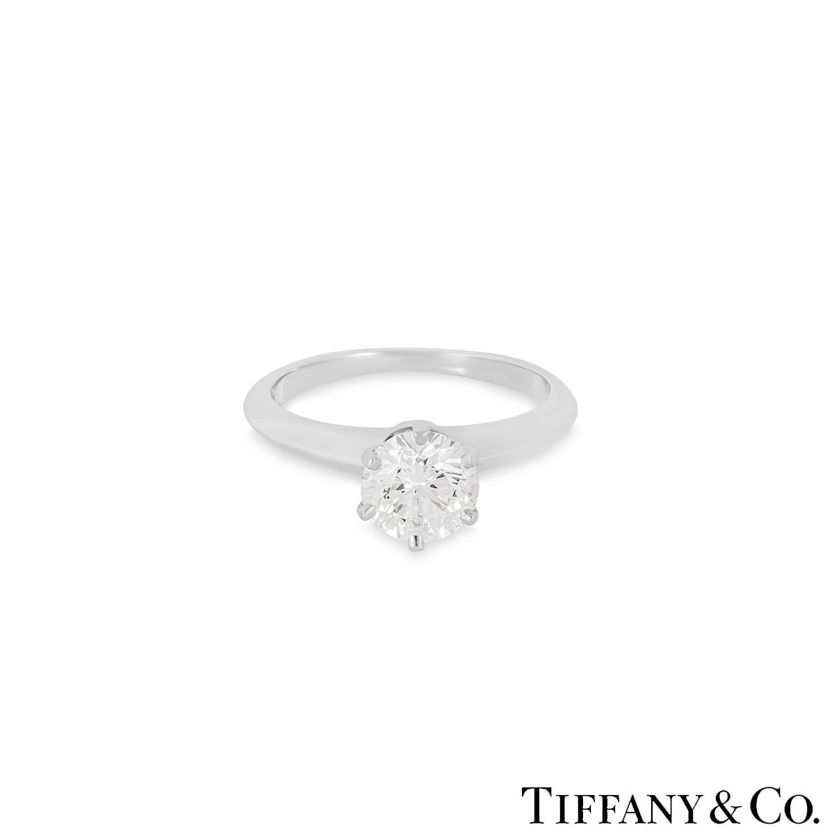 Tiffany & Co. Round Brilliant Cut Diamond Ring 1.05ct H/VS2